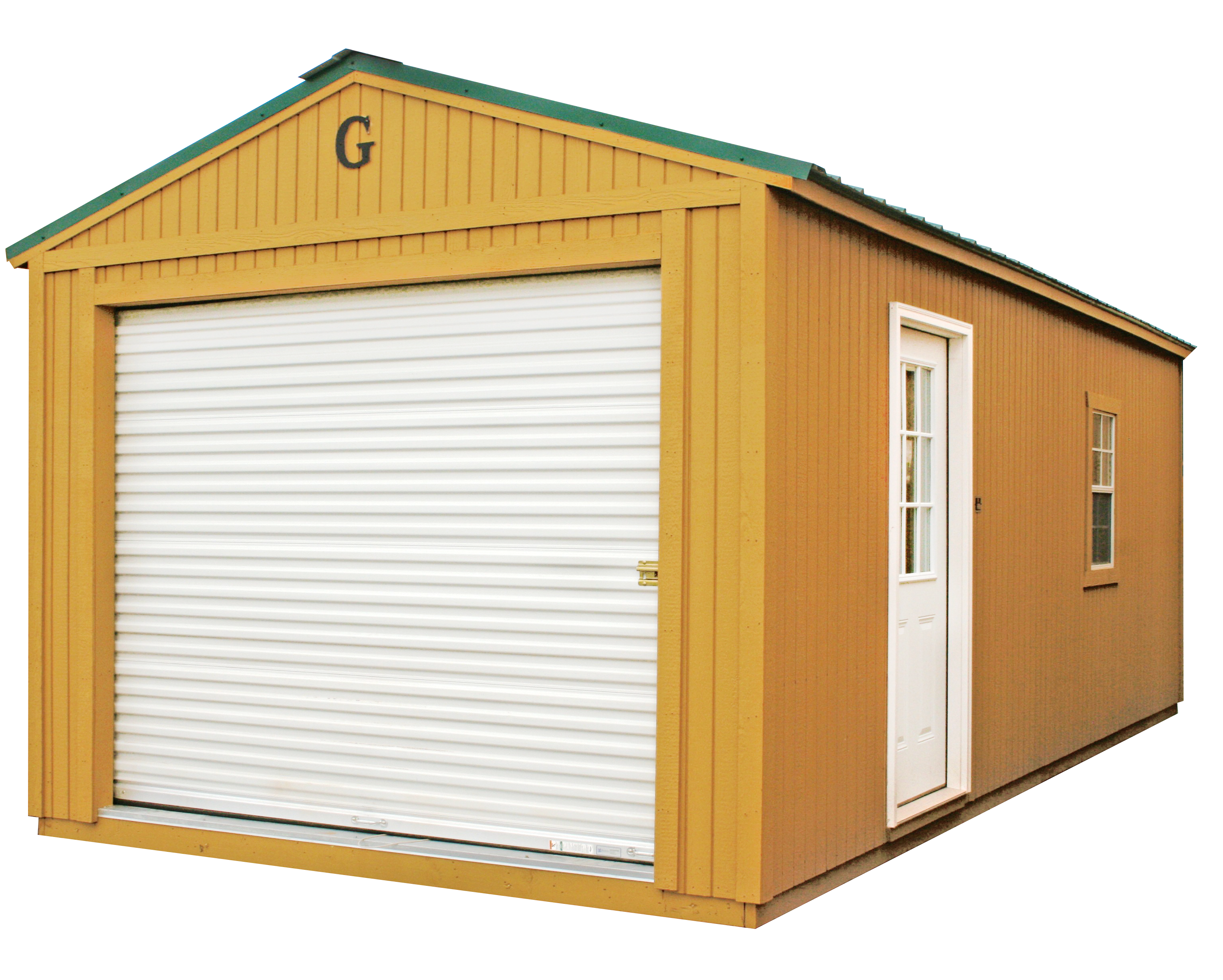 Corner Porch Cabin Portable Garage