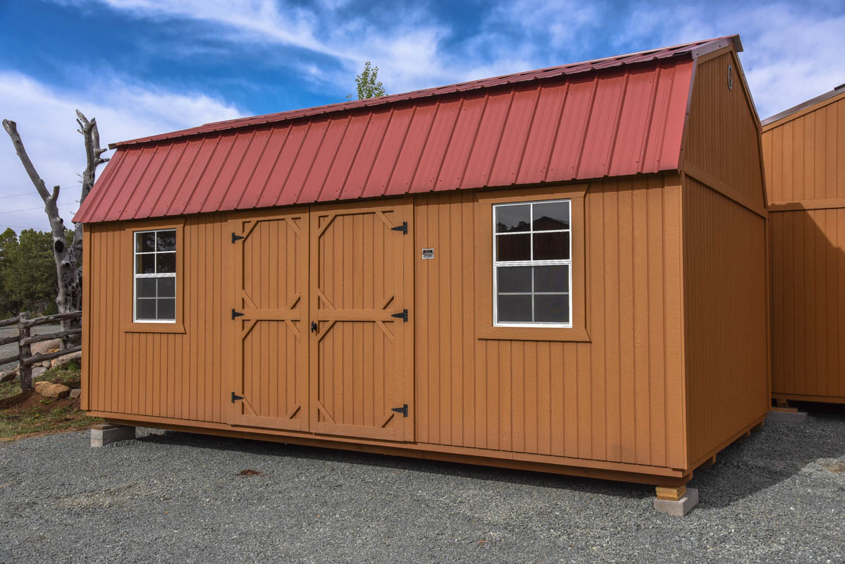Just in a 12 x 20 side lofted barn spacious plus 2 lofts for Loft barn