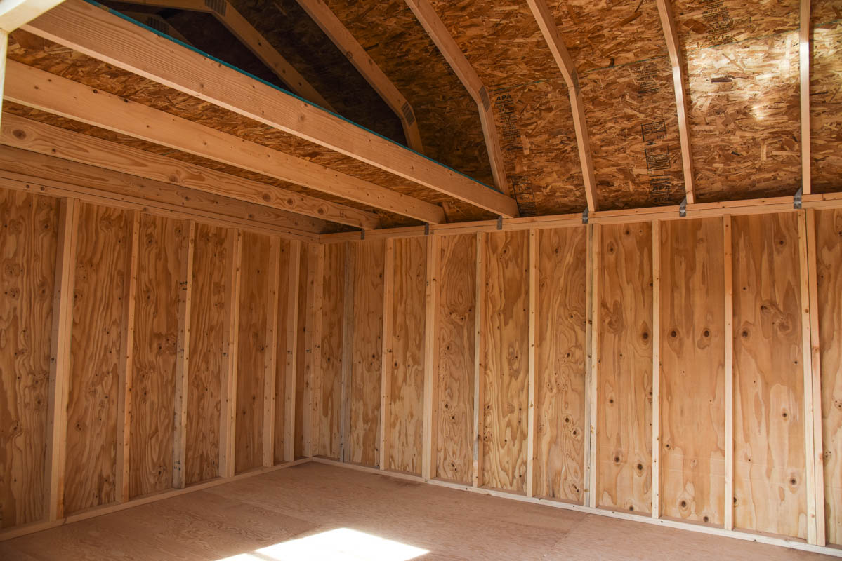 Just In A 12 X 20 Side Lofted Barn Spacious Plus 2 Lofts