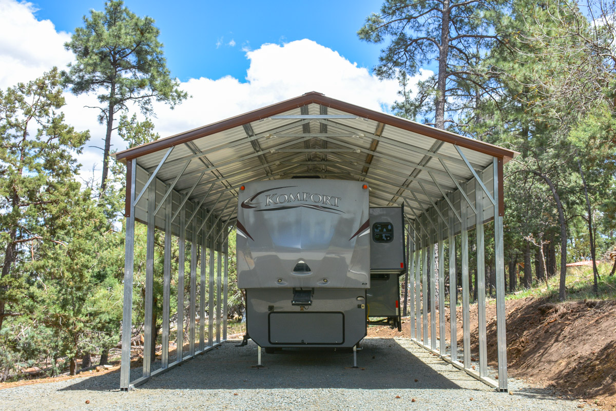 Rv covers from eagle carports for Carport one