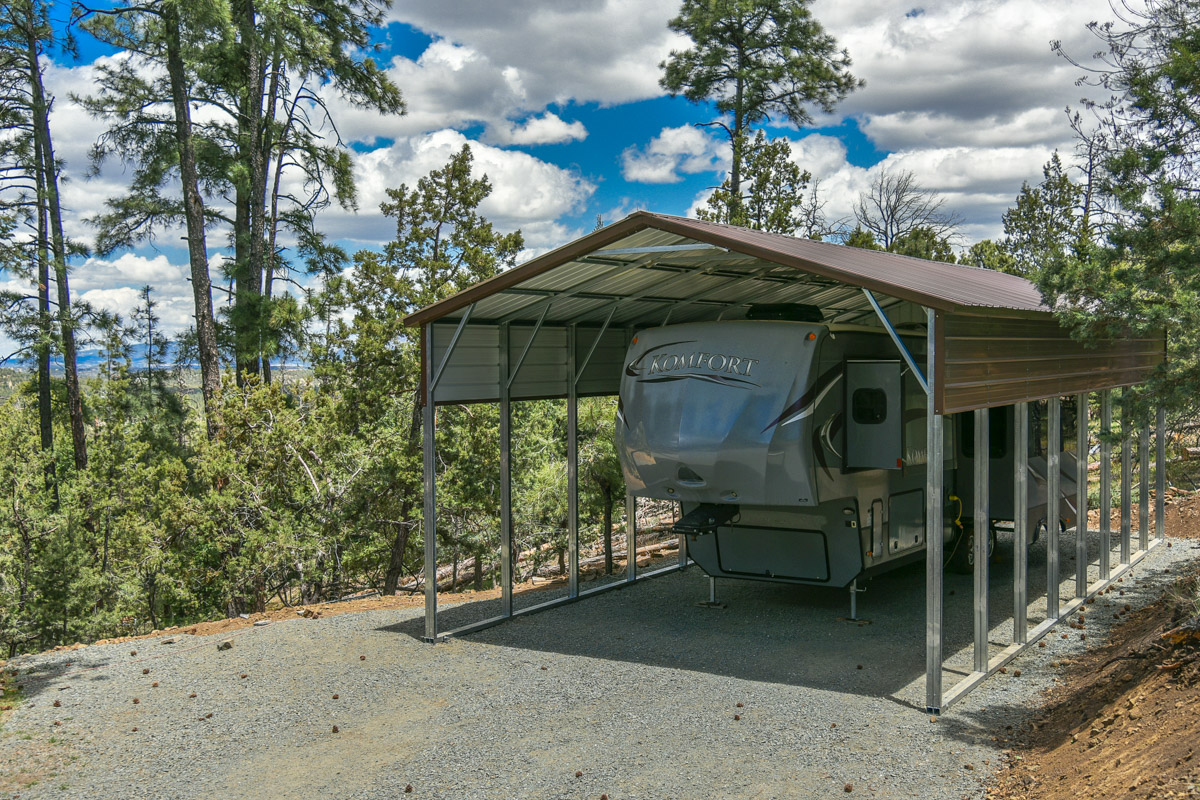 Rv covers from eagle carports for Carports for motorhomes