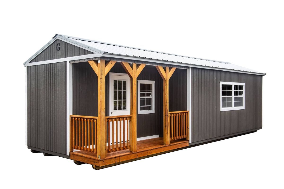 Corner Porch Cabin Alto Portable Buildings Alto Portable