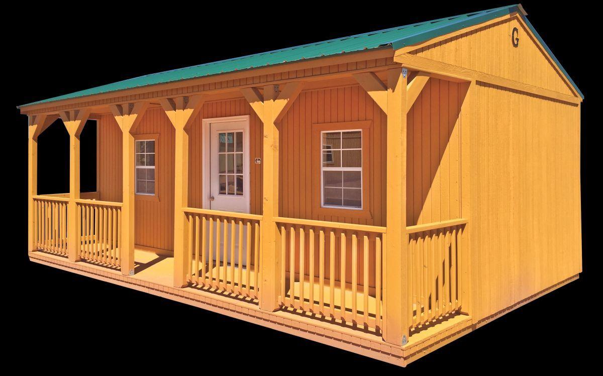 Side Porch Cabin Alto Portable Buildings Alto Portable ...