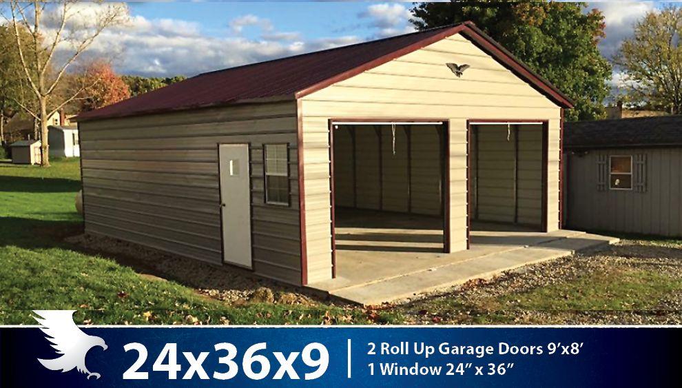Enclosed Garages Alto Portable Buildings Alto Portable ...